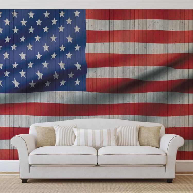 USA American Flag Wallpaper Mural