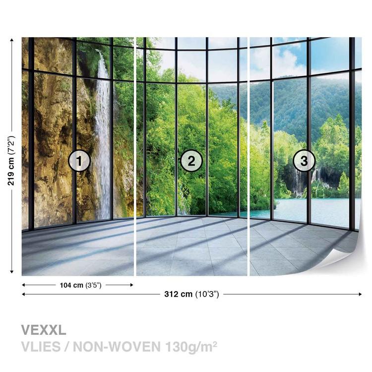 View Tropical Landscape Wallpaper Mural