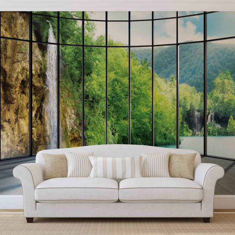 View Tropical Landscape Wallpaper Mural