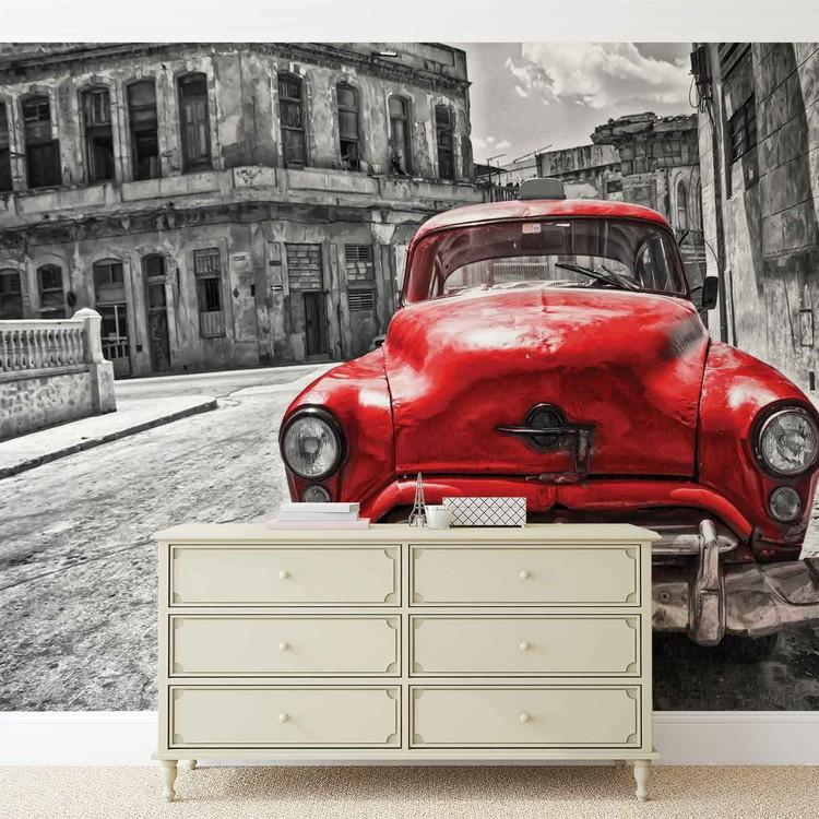 Vintage Car Wallpaper Mural
