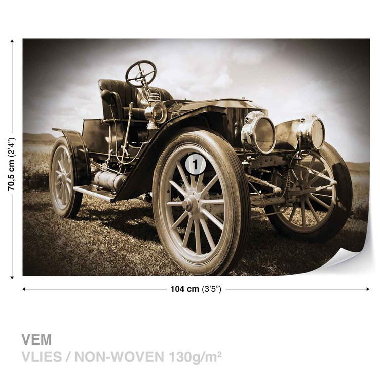 Vintage Car Wall Paper Mural | Buy at EuroPosters