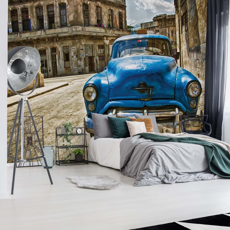 Vintage Car Cuba Havana Wall Paper Mural Buy At Europosters