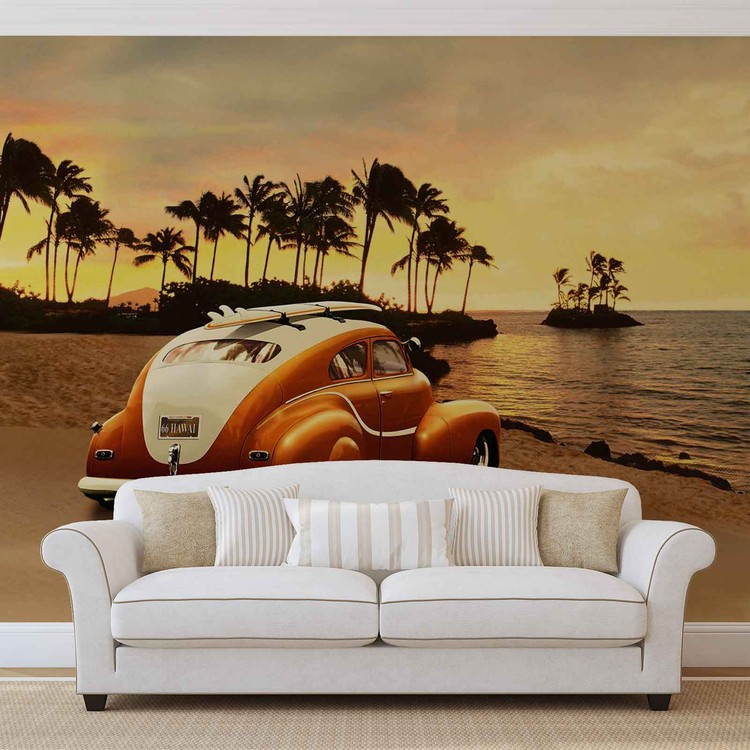 Vintage Car Wall Paper Mural Buy At Europosters