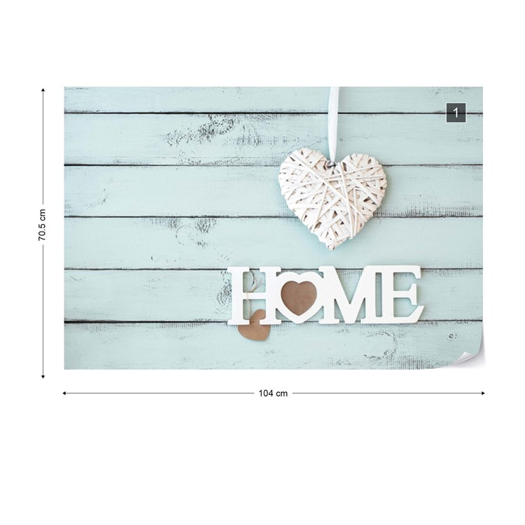 Vintage Chic Home Painted Wooden Planks Texture Light Blue Wallpaper Mural