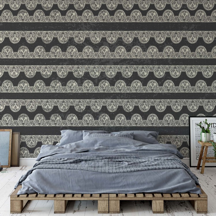 Vintage Lace Pattern Wallpaper Mural