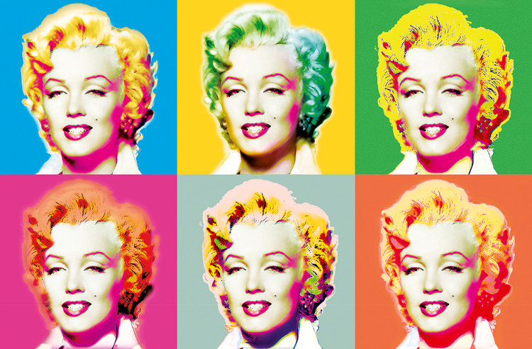 VISIONS OF MARILYN Wallpaper Mural