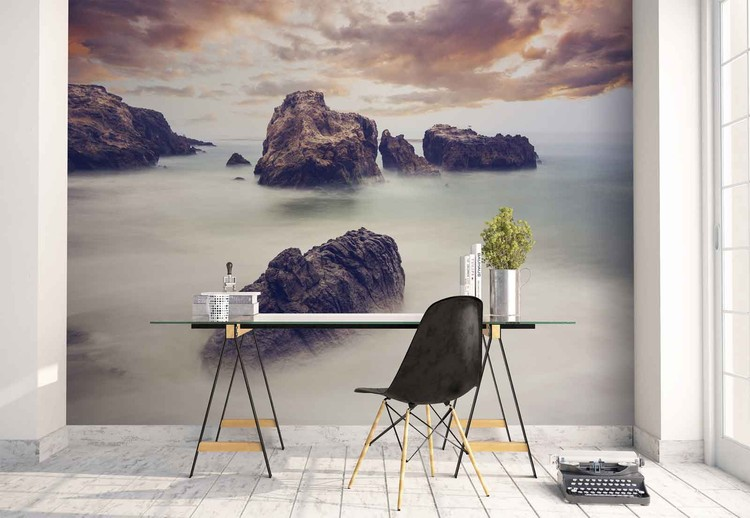Waves And Rocks Wall Paper Mural Buy at EuroPosters