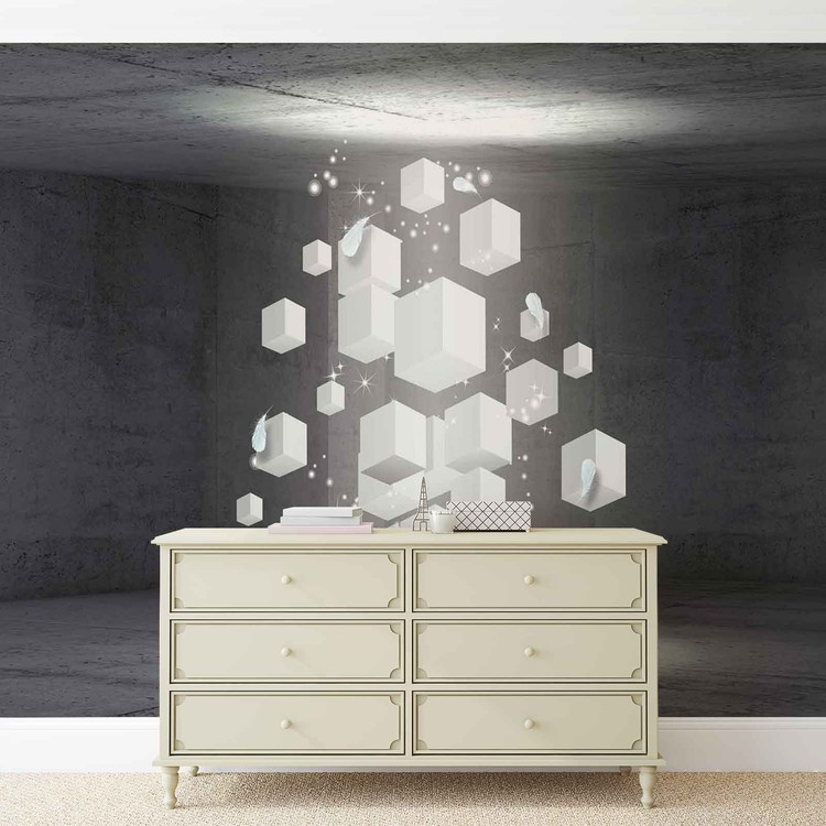 White Dices Wallpaper Mural