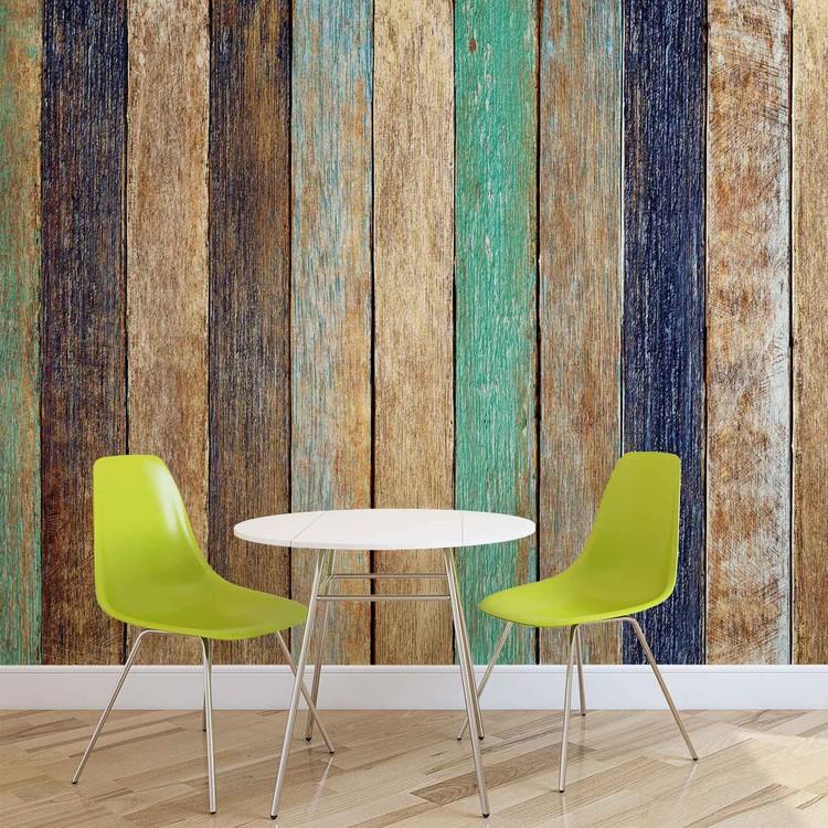 Wood Fence Planks Wallpaper Mural