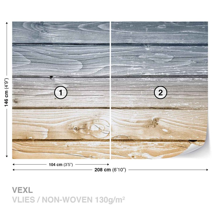 Wood Planks Wallpaper Mural