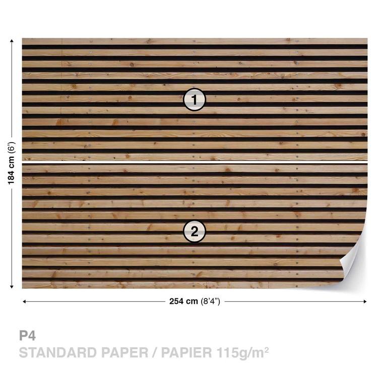 Wood Slats Wallpaper Mural