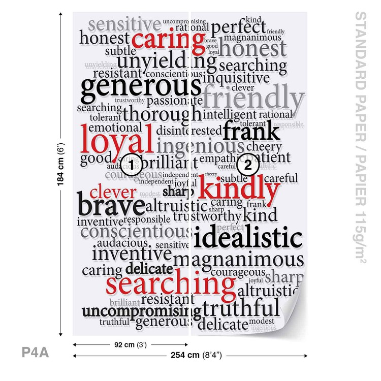Words Motivational Wall Paper Mural Buy at Abposterscom