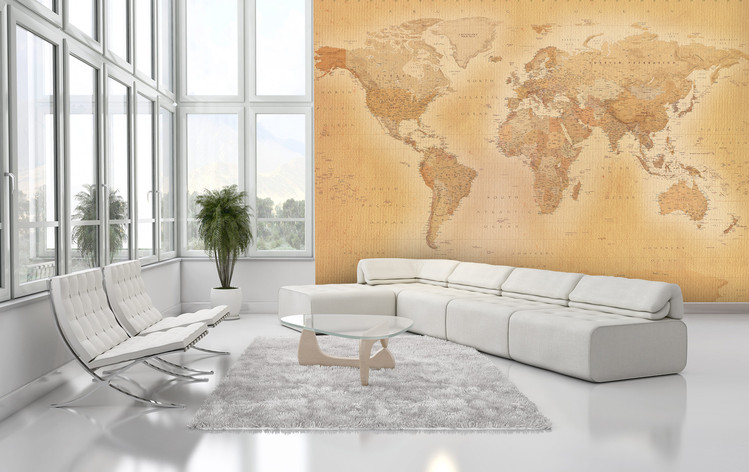 World map old map wall mural buy at europosters world map old map wallpaper mural gumiabroncs