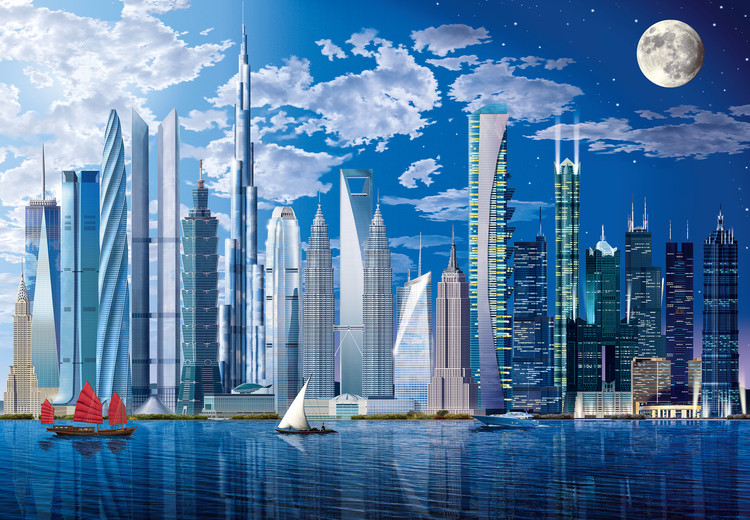 WORLDS TALLEST BUILDINGS Wallpaper Mural