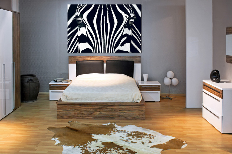 Zebra - Black & White Wallpaper Mural