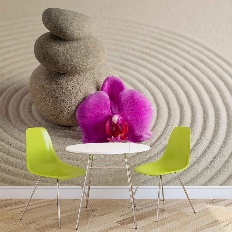 Zen garden flower wall paper mural buy at europosters for Poster mural geant zen