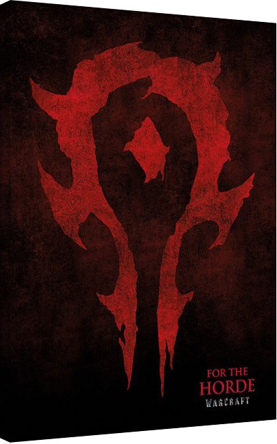Warcraft - For The Horde Canvas Print