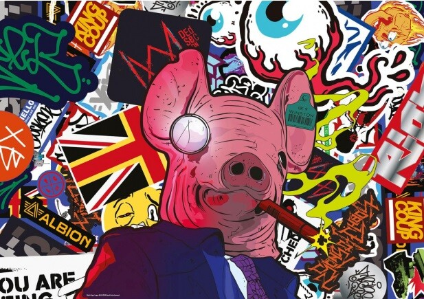 Puzzle Watch Dogs Legion - Pig Masks