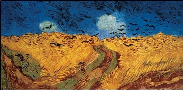 Wheatfield with Crows, 1890 Reproduction d'art