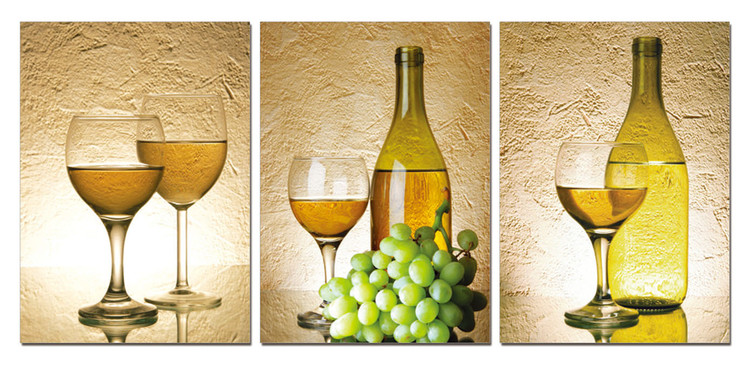 White Wine Tableau Multi-Toiles
