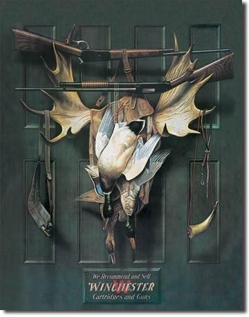 WIN - brace of ducks Plaque métal décorée