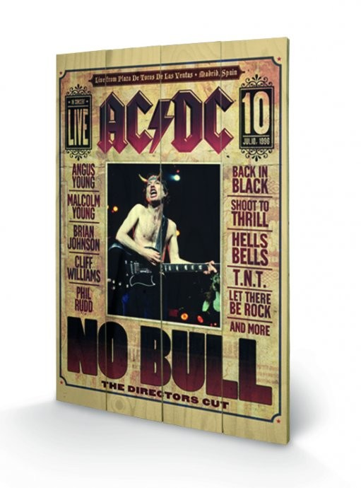 AC/DC - No Bull Wooden Art