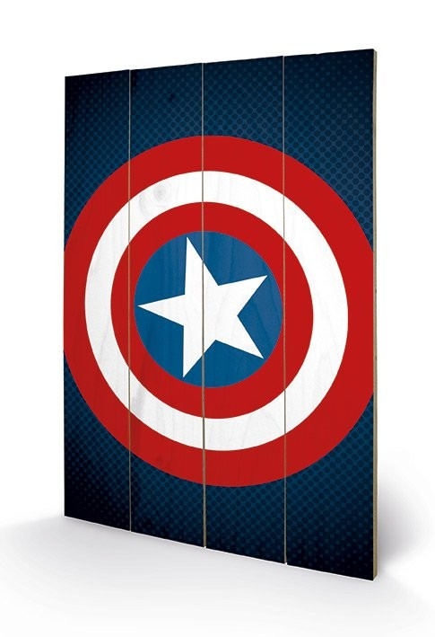 Avengers Assemble - Captain America Shield Wooden Art