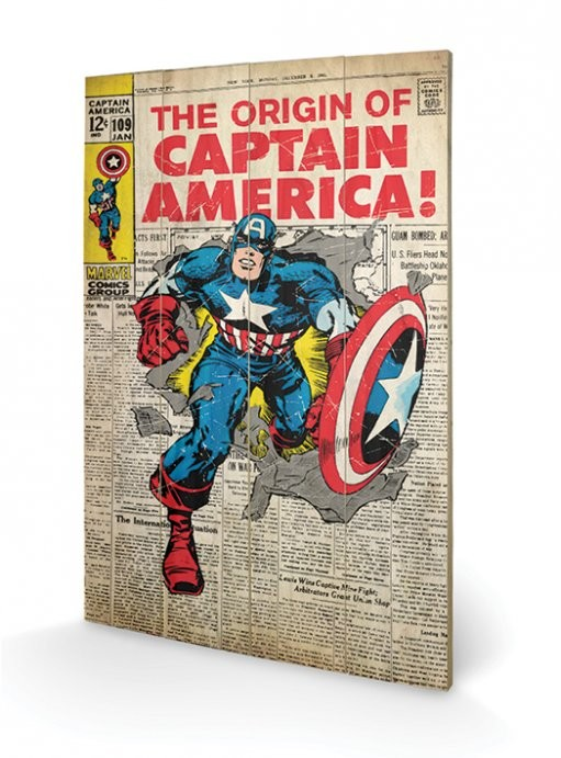 Captain America - Origin Wooden Art