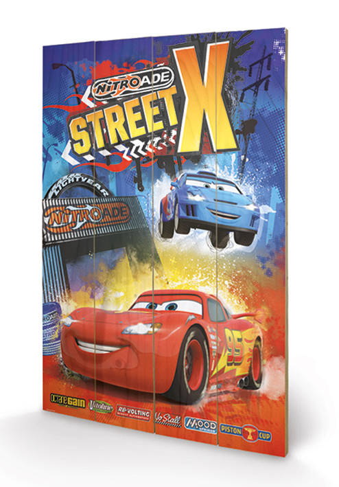 Cars - Street X Wooden Art