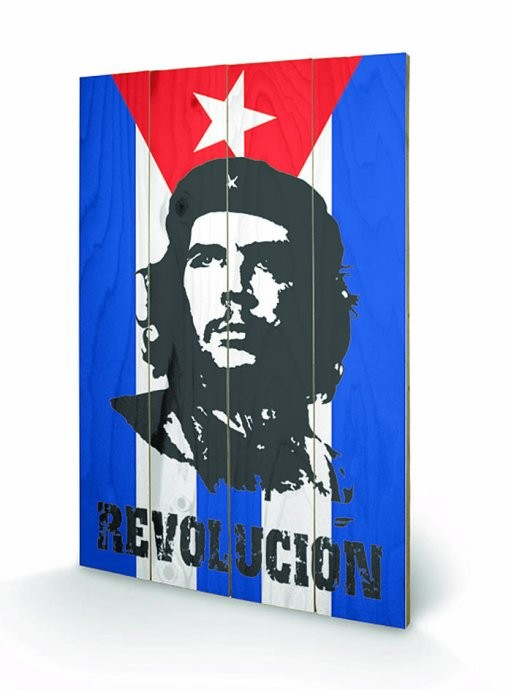 CHE GUEVARA - flag Wooden Art
