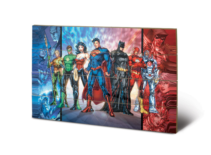 DC Comics - Justice League United Wooden Art