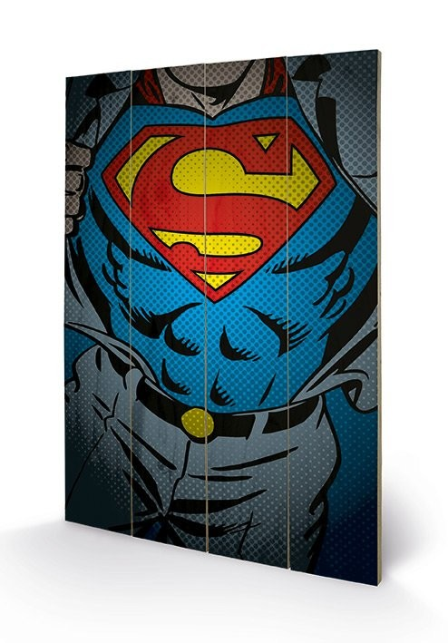 DC Comics - Superman Torso Wooden Art
