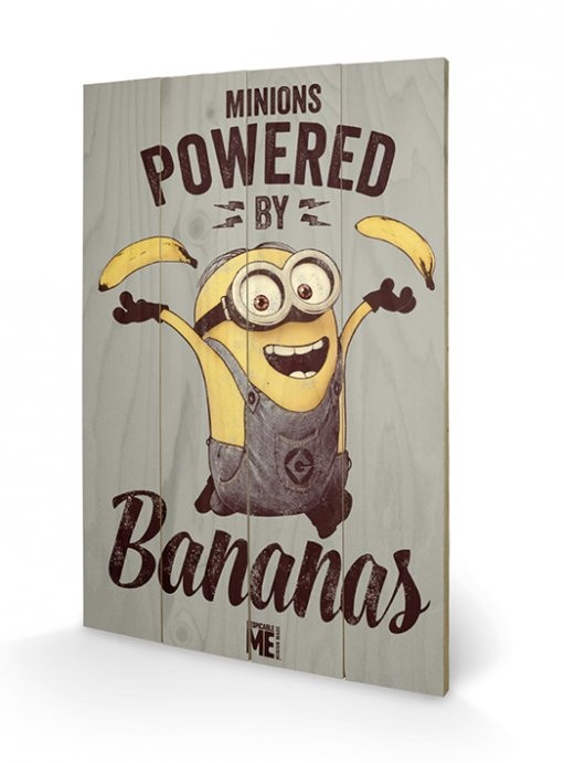 Despicable Me - Powered by Bananas Wooden Art