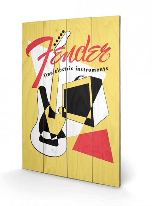 Fender - Abstract Wooden Art