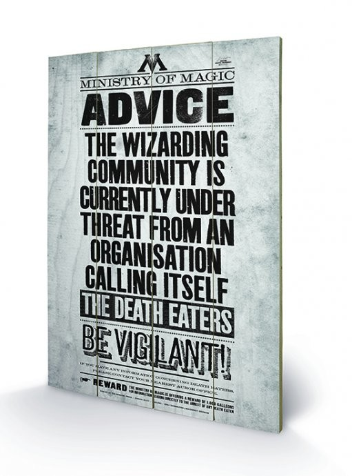 Harry Potter - Be Vigilant Wooden Art