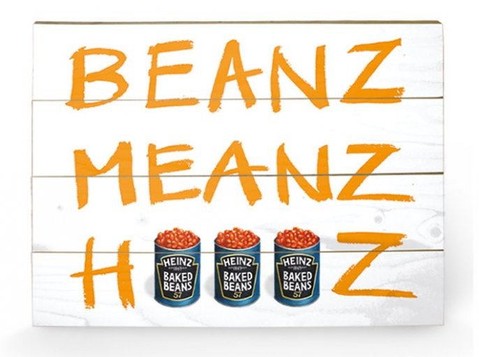 HEINZ BEANZ MEANZ Wooden Art