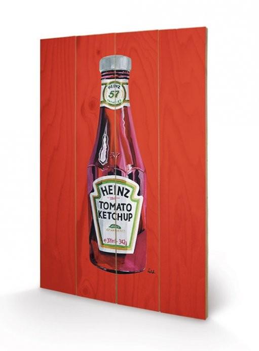 Heinz - Tomato Ketchup Bottle Wooden Art