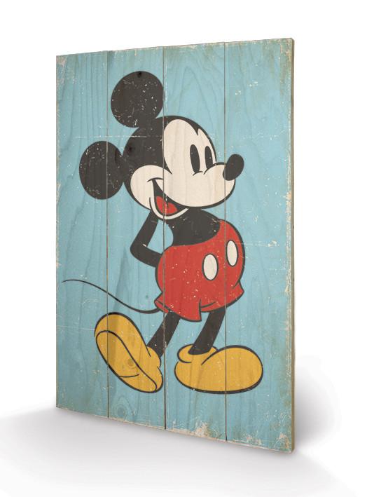 Mickey Mouse - Retro Wooden Art