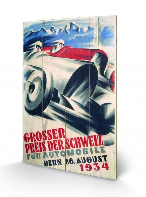 Monaco - 1934 Wooden Art