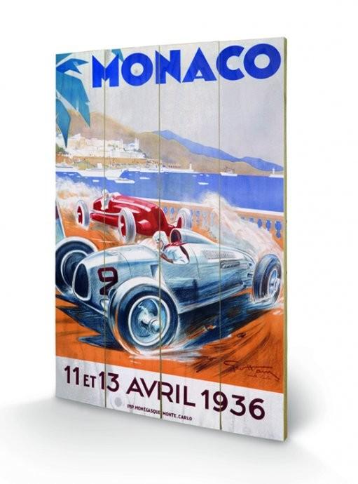 Monaco - 1936 Wooden Art