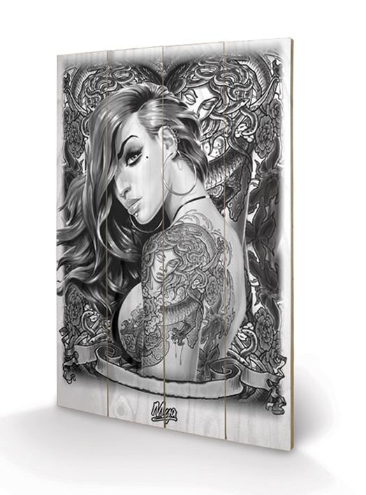 Mya - Tattoo Wooden Art