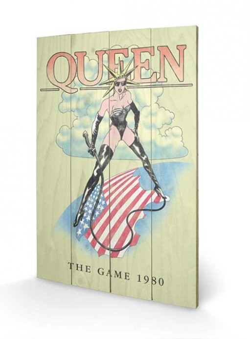 Queen - The Game 1980 Wooden Art