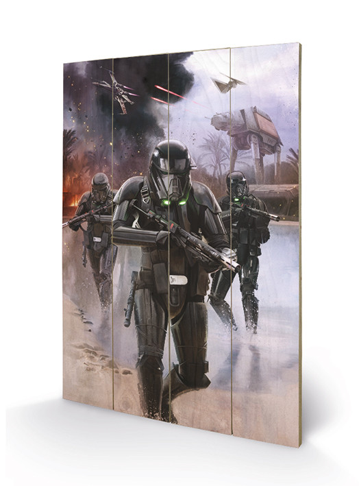 Rogue One: Star Wars Story - Death Trooper Beach Wooden Art