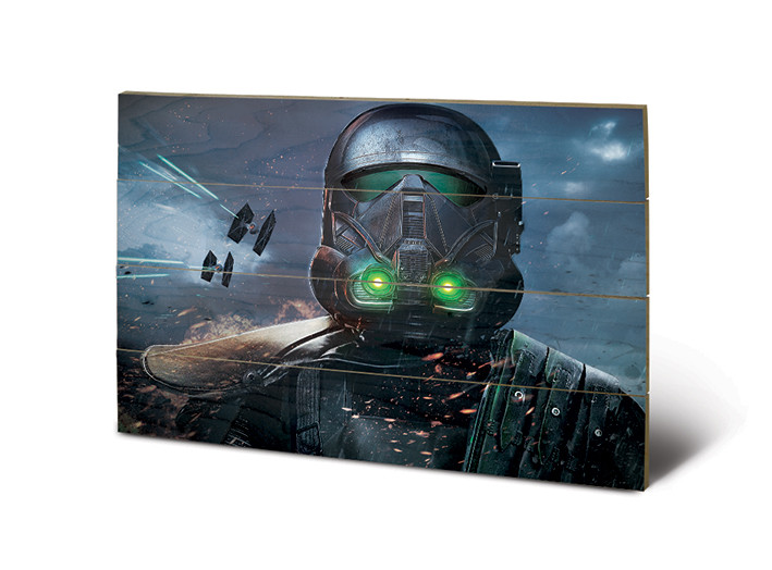 Rogue One: Star Wars Story - Death Trooper Glow Wooden Art