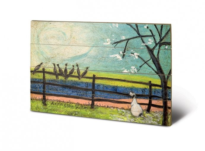 Sam Toft - Doris and the Birdies Wooden Art