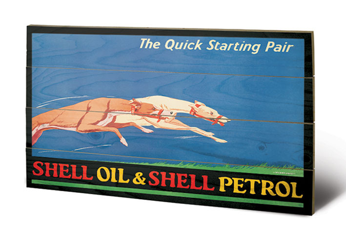 Shell - Greyhounds, 1926 Wooden Art