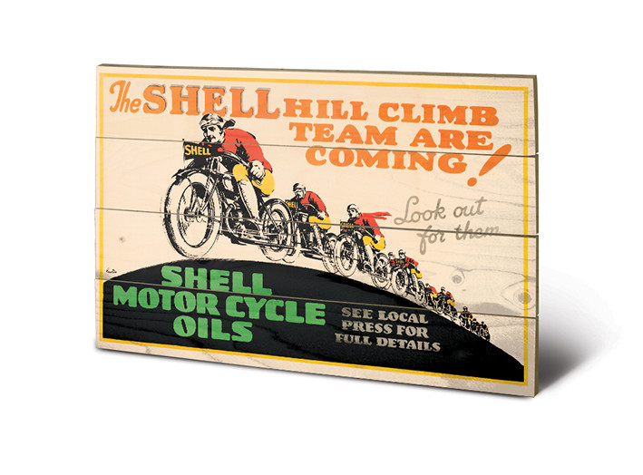 Shell - Hill Climb Wooden Art