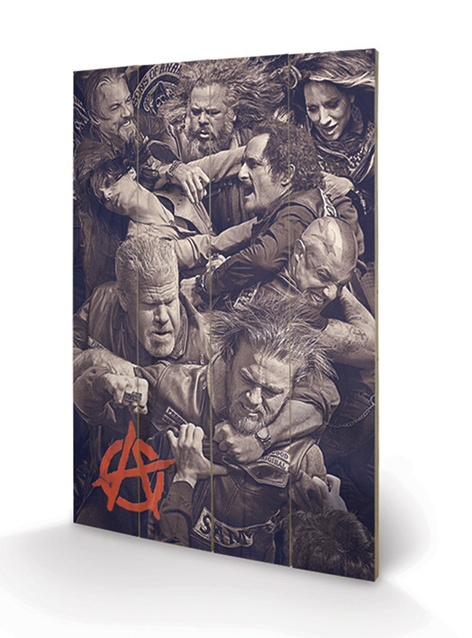 Sons of Anarchy - Fight Wooden Art