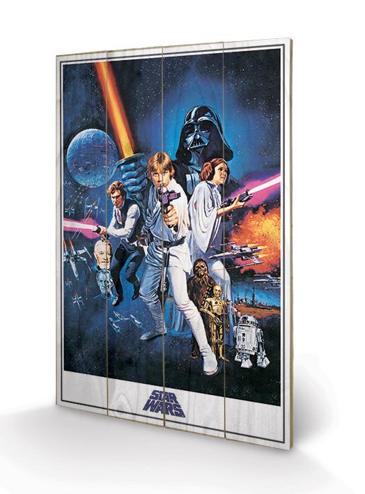Star Wars: A New Hope - One Sheet Wooden Art