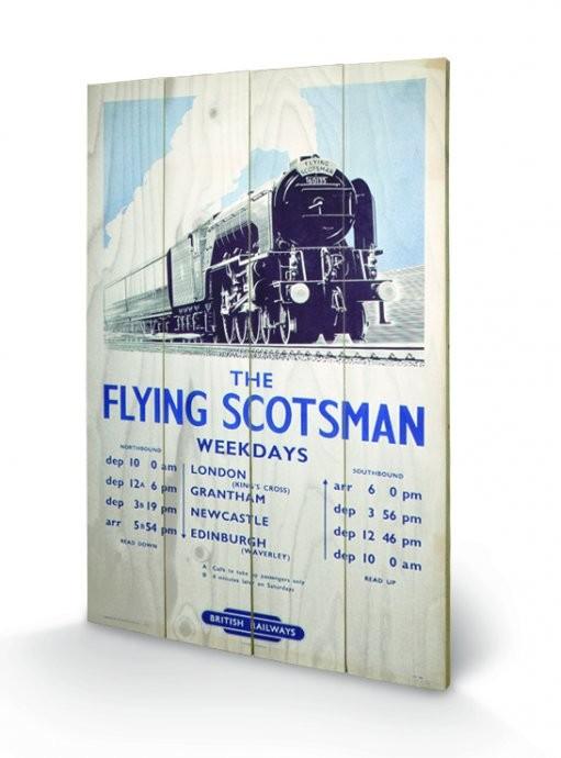 Tank Engine - The Flying Scotsman 2 Wooden Art